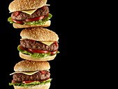 Stack of hamburgers