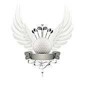 Golf logo, illustration