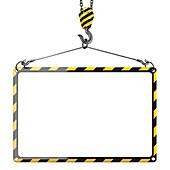 Empty construction frame for message, illustration