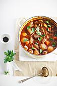 Mushroom, beef and barley casserole