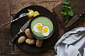 Green sauce with egg and new potatoes (Hessen, Germany)