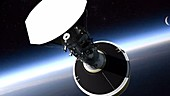 Parker Solar Probe second stage separation, animation