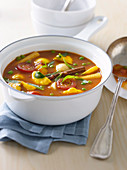 Harissa and Mint Vegetable Stew