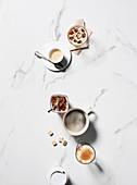 Verschiedene Kaffeegetränke