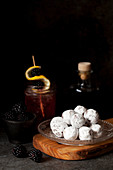 Bramble Cocktail Truffles with Gin and Blackberry Flavours