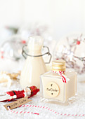 Homemade Cream Liqueur in small gift bottles