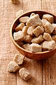 A bowl of brown sugar cubs