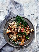 Mixed Mushroom and Cavo Nero Buckwheat Risotto