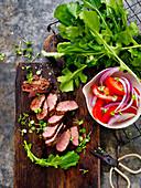 Zutaten für italienischen Lammfleischsalat