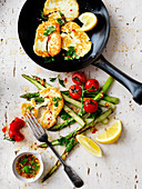 Haloumi, Asparagus and Cherry Tomato Salad