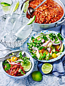 Chili Con Carne mit Avocadosalat