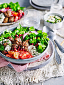 Lamb Kofta with Spiced Yoghurt