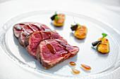 Matsusaka beef with gnocchi