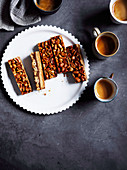 Peanut and miso shortbread bars