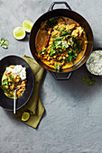 Indian spiced lamb and chickpea curry (One pot wonder)
