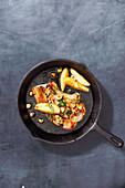 Pork Chops with hazelnut and sage (One pot wonder)