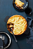 Lamb and duchesse potato pie