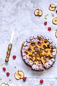 Hefekuchen mit Apfelmarmelade