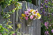 Willkommens-Strauß am Gartentor