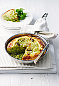 Rocket Pesto and Spaghetti Frittata