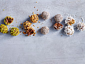 Bliss Balls - Pistachio and Cranberry, Cacao and Hazelnut, Macadamia and Fig, Apple and Pepita