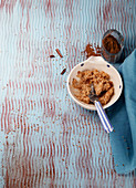 A sweet spread made from sesame seed butter with dates and cinnamon