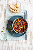 Apulian caponata made from garden vegetables