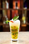 Virgin Basil and Lemongrass Mocktail