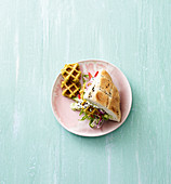 Falafel with feta and a dip
