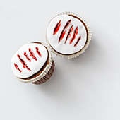 Cupcakes decorated with bloody cuts