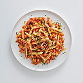 Malloreddus con moscardini piccanti (pasta with spicy cuttlefish, Italy)