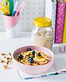 Bircher muesli with fruit and nuts