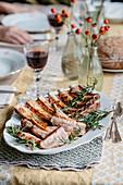 Juniper pork ribs with rosemary
