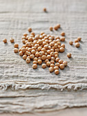 Chickpeas on a cotton cloth