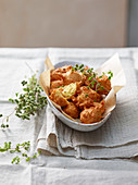 Cuculli genovesi (Frittierte Teigbällchen aus Kichererbsenmehl, Italien)