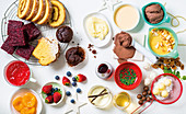 Zutaten für Desserts und süsse Saucen zu Weihnachten