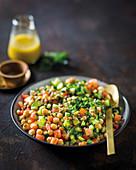 Vegan legume tabbouleh