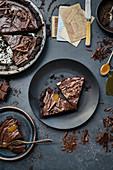 Vegane Schokoladentarte mit Salted Caramel