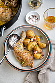 Creamy mustard chicken with potatoes