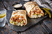 Shawarma wraps to take away