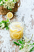 Elderflower syrup (cordial)