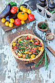 Roasted vegetables pie