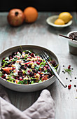 Beetroot salad with pomegranate seeds