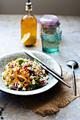 Greek coleslaw with feta cheese