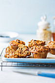 Wholewheat muffins with buttermilk and raisins