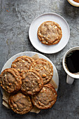 Cookies and plate with coffee