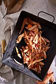 Sweet potato peels