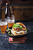 Asian pork burger with ginger and chili