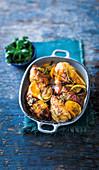 Zitrushähnchen-Süßkartoffel-Auflauf