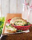 Italian-style picnic sandwich